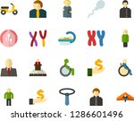 color flat icon set   holy... | Shutterstock .eps vector #1286601496