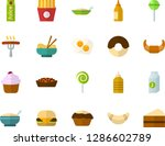 color flat icon set   cake flat ... | Shutterstock .eps vector #1286602789