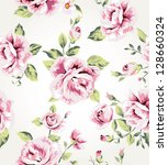 seamless flower pattern... | Shutterstock . vector #128660324