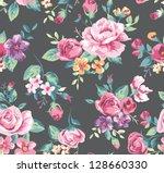 seamless vintage tropical...   Shutterstock . vector #128660330