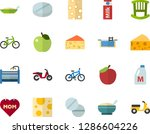 color flat icon set   mothers... | Shutterstock .eps vector #1286604226