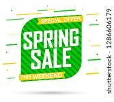 spring sale  banner design... | Shutterstock .eps vector #1286606179