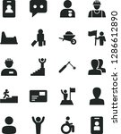 solid black vector icon set  ...   Shutterstock .eps vector #1286612890