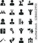 solid black vector icon set  ...   Shutterstock .eps vector #1286612953