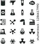 solid black vector icon set  ... | Shutterstock .eps vector #1286617990