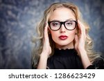 beauty portrait. attractive... | Shutterstock . vector #1286623429