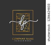 dp initial handwriting logo... | Shutterstock .eps vector #1286624833