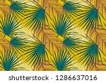 background with palm leaf in... | Shutterstock . vector #1286637016