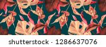 leaf background botanical style.... | Shutterstock . vector #1286637076