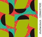 halftone color texture... | Shutterstock .eps vector #1286637430