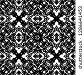 black and white seamless ethnic ...   Shutterstock .eps vector #1286641453