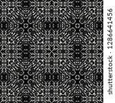 black and white seamless ethnic ...   Shutterstock .eps vector #1286641456