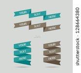 set of ad ribbons   illustration | Shutterstock .eps vector #128664380