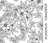 flower print. elegance seamless ...   Shutterstock . vector #1286658559