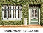 beautiful green facade at a...   Shutterstock . vector #128666588