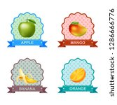 label for fruits | Shutterstock . vector #1286666776