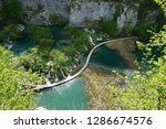 waterfalls at plitvice lakes... | Shutterstock . vector #1286674576