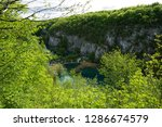 waterfalls at plitvice lakes... | Shutterstock . vector #1286674579