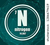 nitrogen chemical element. sign ... | Shutterstock .eps vector #1286679619
