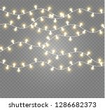 christmas lights isolated... | Shutterstock .eps vector #1286682373