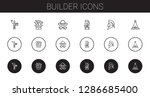 builder icons set. collection... | Shutterstock .eps vector #1286685400