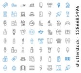 product icons set. collection... | Shutterstock .eps vector #1286685496