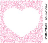 cute pink frame for valentine... | Shutterstock .eps vector #1286692069