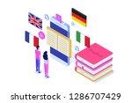 language school  online...   Shutterstock .eps vector #1286707429