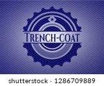trench coat badge with denim... | Shutterstock .eps vector #1286709889
