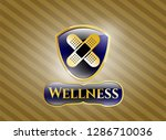 golden emblem or badge with... | Shutterstock .eps vector #1286710036