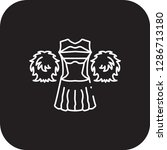 cheerleader costume  icon flat... | Shutterstock .eps vector #1286713180