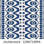 ikat seamless pattern. vector... | Shutterstock .eps vector #1286714896