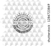 worthless grey badge with... | Shutterstock .eps vector #1286723869