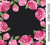 pink flowers on black... | Shutterstock .eps vector #1286732233