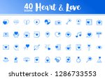 Heart And Love. 40 Icons With...