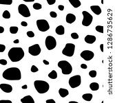 seamless pattern with black... | Shutterstock .eps vector #1286735629