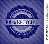 100  recycled emblem with jean... | Shutterstock .eps vector #1286736430