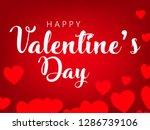 valentine's day design  vector... | Shutterstock .eps vector #1286739106