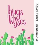 a handwritten sing hugs  ... | Shutterstock .eps vector #1286742499