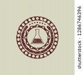 red test tube icon inside... | Shutterstock .eps vector #1286746396
