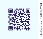 qr code for scanning by phone.... | Shutterstock .eps vector #1286746993