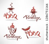 vector collection of bbq logo ... | Shutterstock .eps vector #1286751166