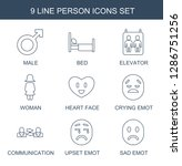 person icons. trendy 9 person... | Shutterstock .eps vector #1286751256