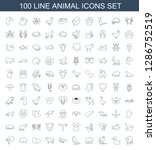 animal icons. trendy 100 animal ... | Shutterstock .eps vector #1286752519