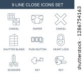 9 close icons. trendy close...   Shutterstock .eps vector #1286754163