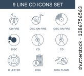 cd icons. trendy 9 cd icons.... | Shutterstock .eps vector #1286756563