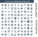 warning icons. trendy 100...   Shutterstock .eps vector #1286756569