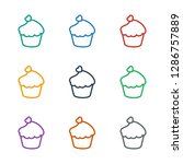 muffin icon white background.... | Shutterstock .eps vector #1286757889