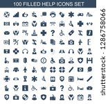 100 help icons. trendy help...   Shutterstock .eps vector #1286758066