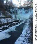icy water fall with frozen... | Shutterstock . vector #1286759776